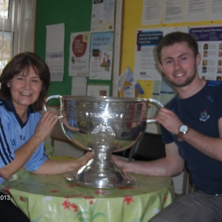 Mrs Power & Sam Maguire