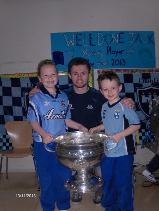 Jack and Alex with the Sam Maguire