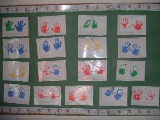 Room 10 hand prints