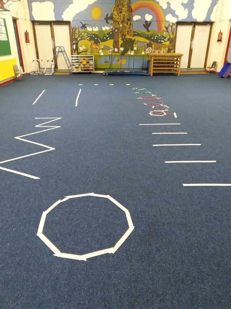 Ms. Watson's obstacle course for junior infants